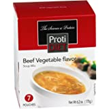 ProtiDiet High Protein Soup Mix - Beef Vegetable (7 Servings/Box), 6.2 oz