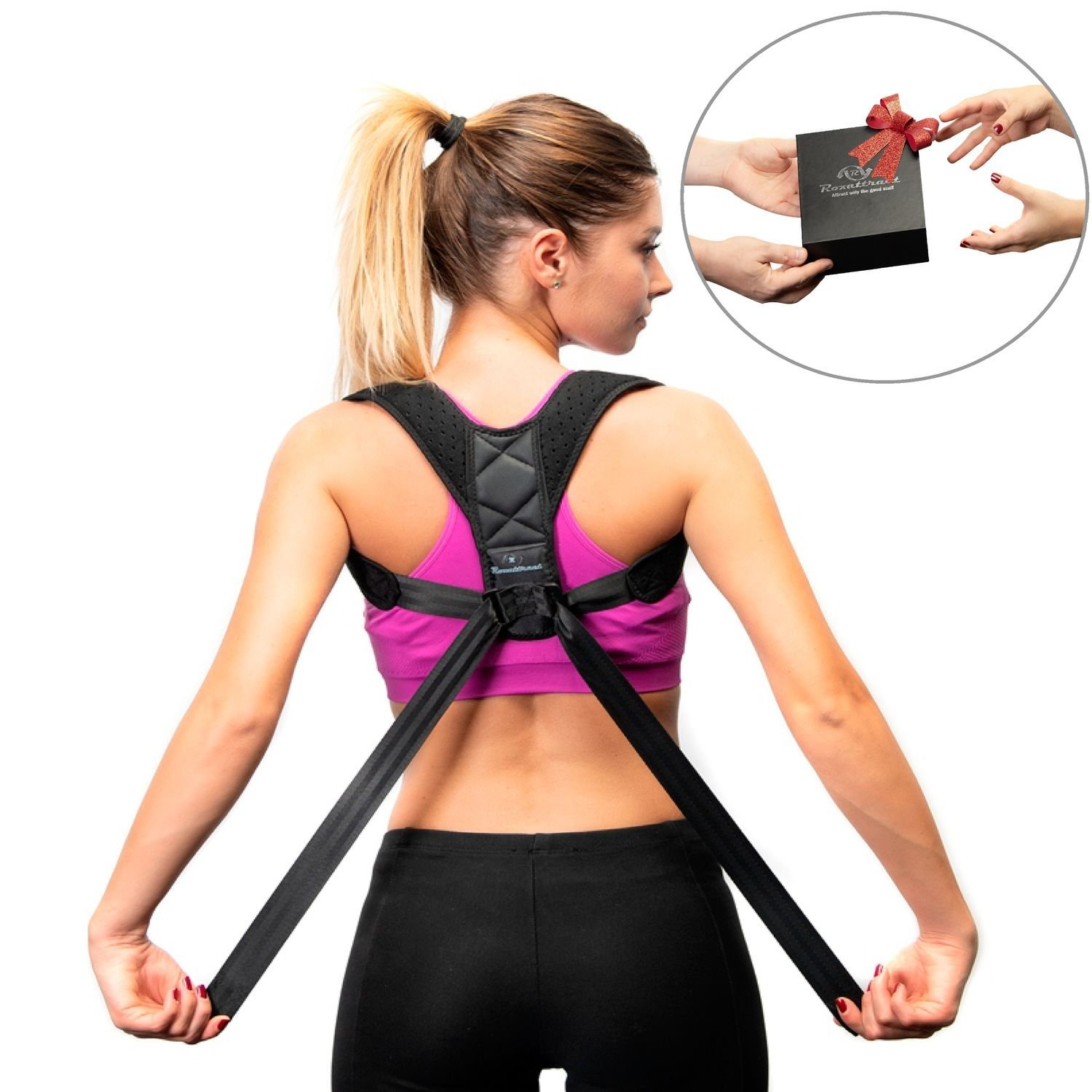 Back Posture Corrector for Women and Men-Breathable and Comfortable Clavicle Brace for Improving Posture-Adjustable and Discreet Clavicle Support Brace for Slouching & Hunching by Roxattract (Image #1)