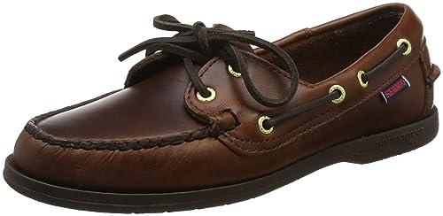 Sebago - Zapatos de cuero para mujer, Marrón, 35: Amazon.es: Zapatos y complementos