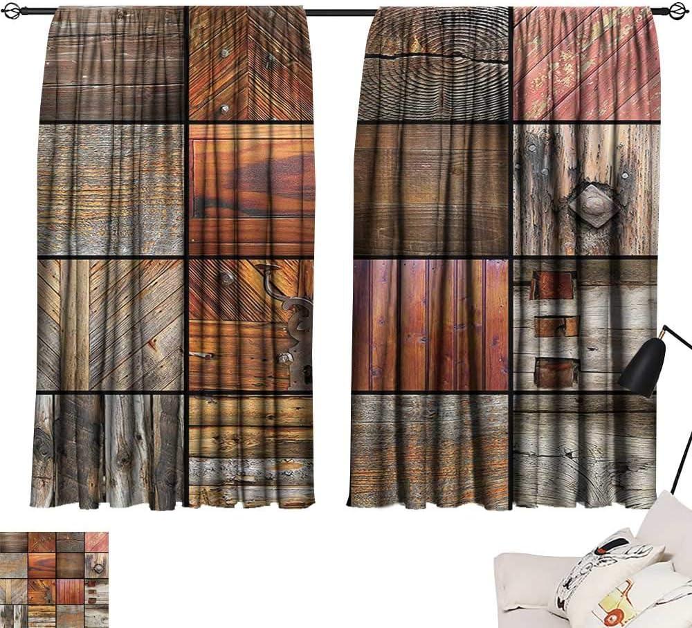 Anzhutwelve Cortina de decoración Antigua, insonorizada, Antigua ...