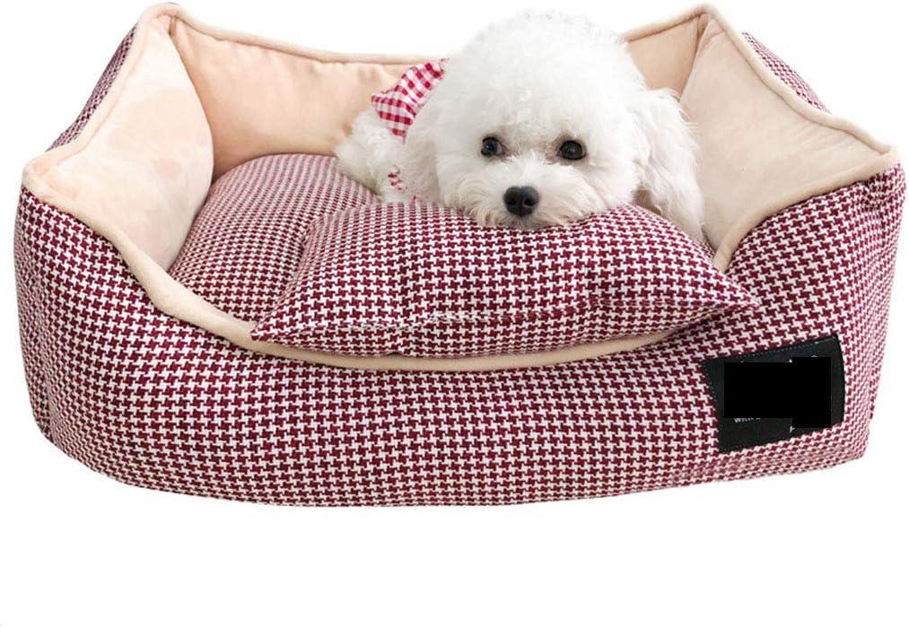 ZFFLYH Letto per Animali Domestici Nido Rotondo Caldo Morbido Peluche Letto Comodo Letto per Cani Gatto Domestico per Gatti e Piccoli Cani Medi,Brown,40cm