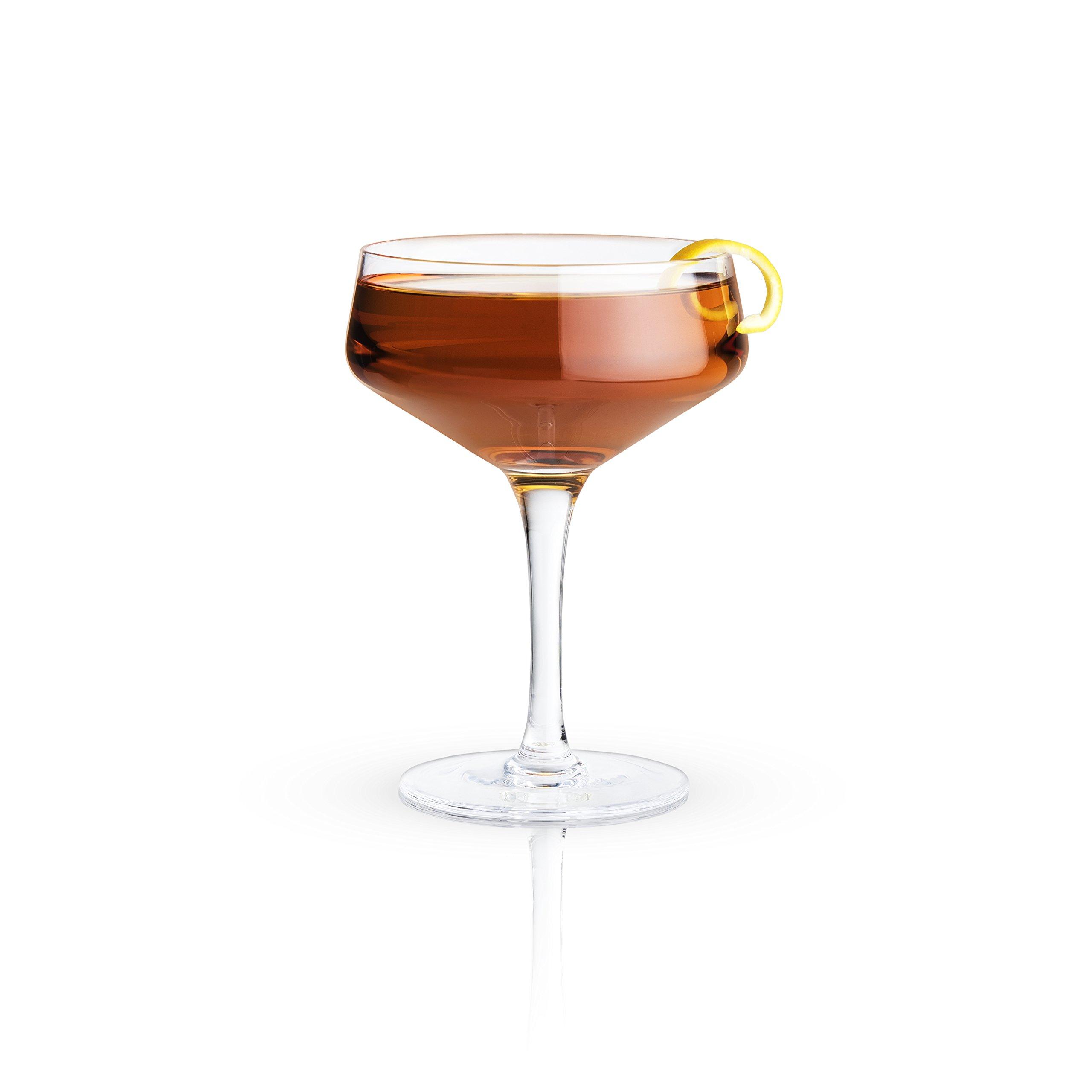 Viski 5399 Raye Crystal Coupe Glass, Set of 2