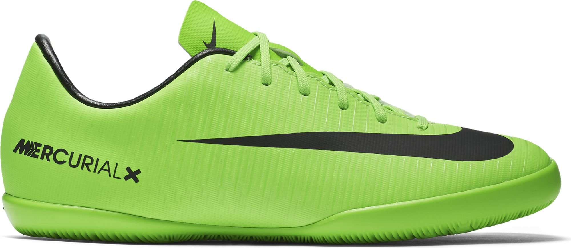 Nike Jr. Mercurial Victory VI IC Soccer Cleat (Electric Green), 5 Big Kids M