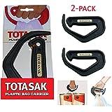 TotASak Grocery Bag Carrier (2 PACK) - Multiple Shopping Bag Holder Handle - Durable Lightweight Multi Purpose Secondary Handle Tool