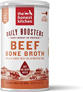 The Honest Kitchen Daily Boosts: Instant Beef Bone Broth Liquid Treat with Turmeric for Dogs and Cats, 3.6oz