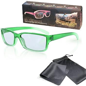 Gafas 3D para niños pasivo para RealD - Verde-transparente - Polarizadas circular - Con
