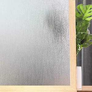 Window Film Privacy Removable Home Office Film Anti UV Window Cling Decorative Window Covering for Bathroom (Silver Silk, 11.8 x 39.3 Inches)