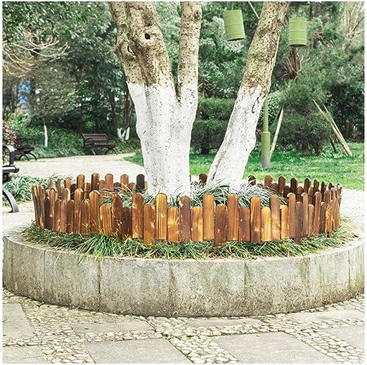 ZHANWEI Valla de jardín Bordura de jardín Decorativo Cama De Flores Paisaje De Madera Protector Guardia Cenefa Al Aire Libre Césped, 2 Estilos, 3 Tamaños (Color : B-3pcs, Size : 100x20/25cm): Amazon.es: