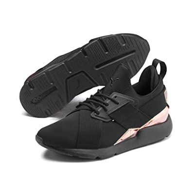 PUMA Basket Muse Metal pour Femme Puma Black Rose Gold 8