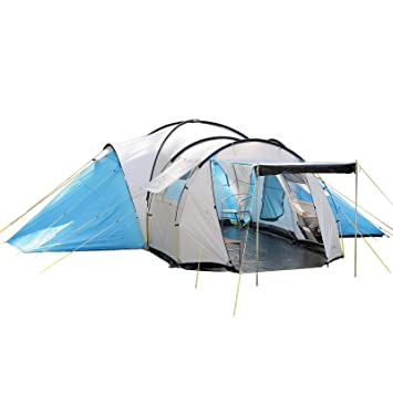 Skandika Toronto Large 8 Person Family Camping Tent With 3 Sleeping Rooms And Sun Canopy
