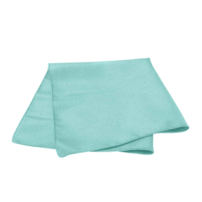 Pack of 10 Cloth Dinner Table Napkins Machine Washable Home Use 100/% Cotton Fabric Cotton Napkins Aqua Blue 12 x 12 inch