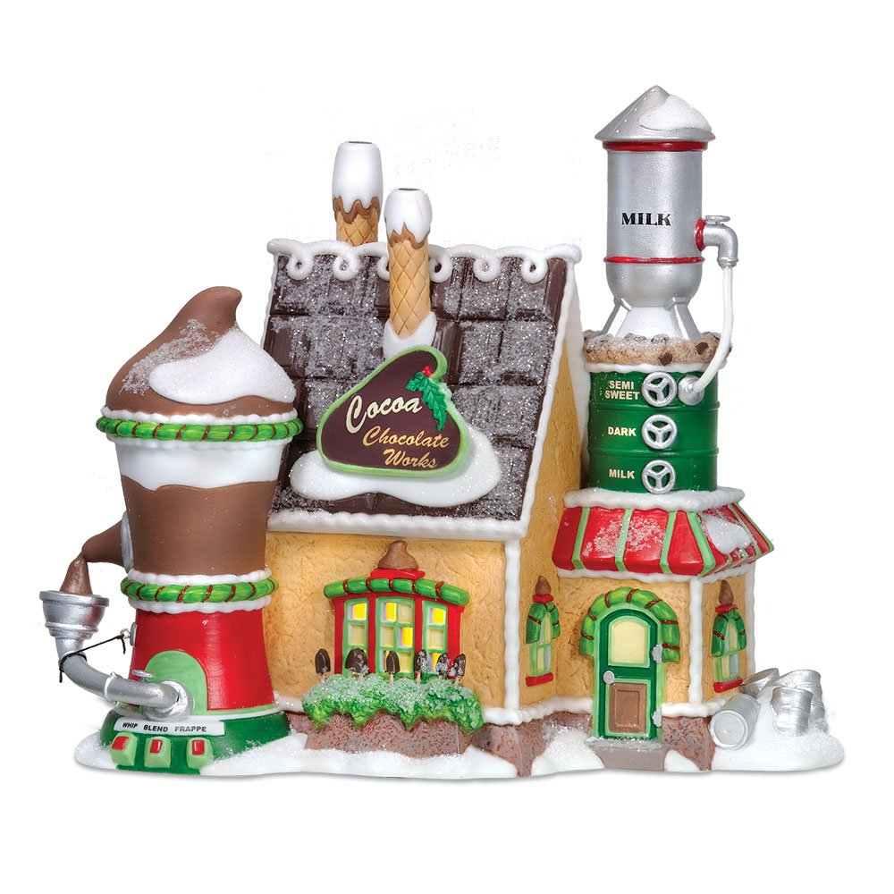 Department 56 North Pole Village Cocoa Chocolate Works Lit House
