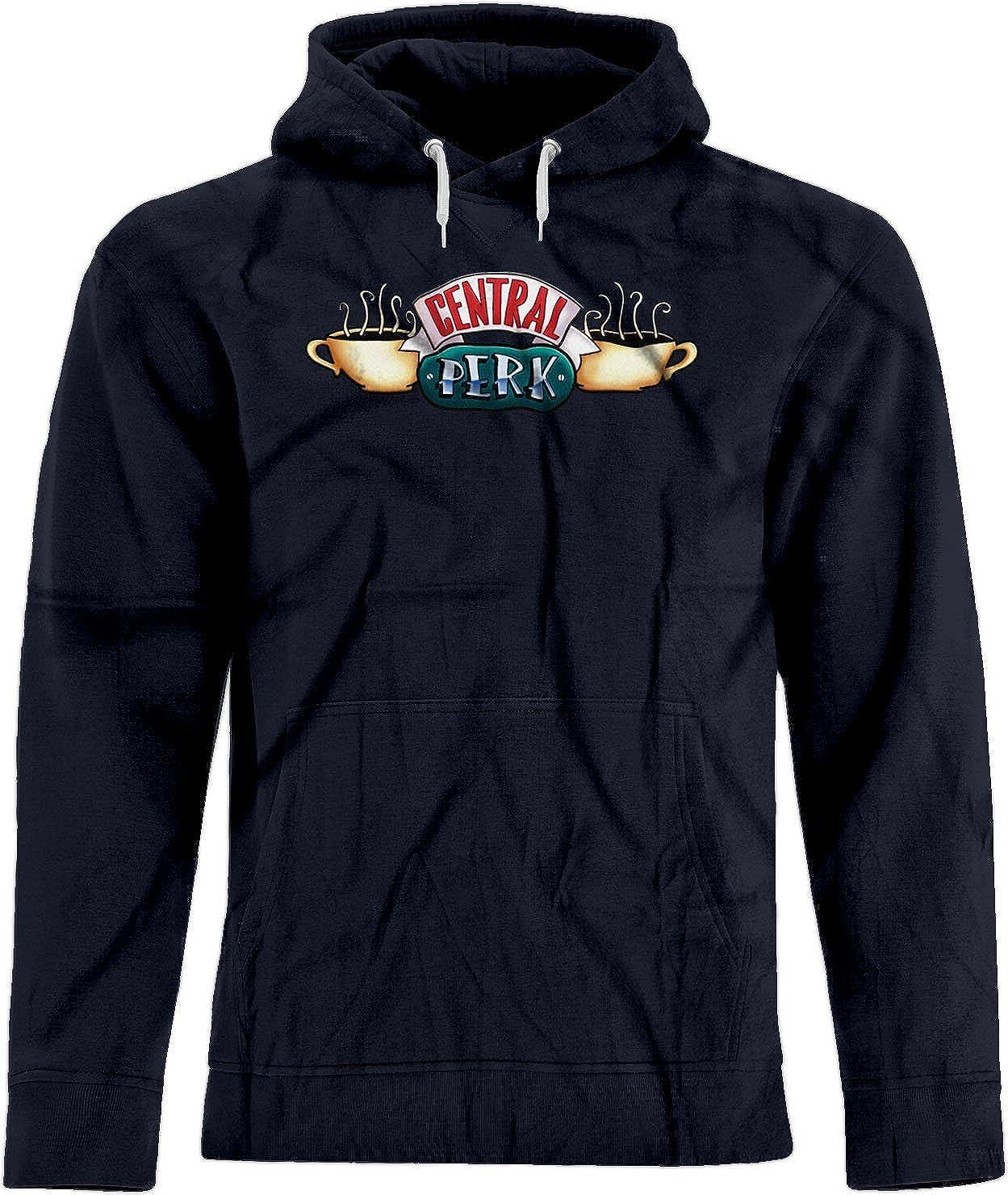 BSW Mens Central Perk Friends Coffee Shop Logo Premium Hoodie