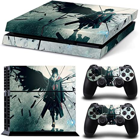 CAN® Ps4 - Vinilo protector para consola Sony Playstation 4 y Remote Dualshock 4 Wireless Controller Stickers, Uchiha Sasuke NARUTO: Amazon.es: Videojuegos