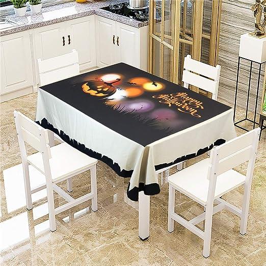 SONGHJ Mantel de Mesa de Calabaza de Halloween de algodón ...