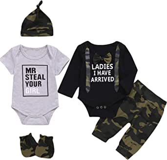 Dramiposs Newborn Boy Outfits Baby Coming Home Clothes Baby Boy Hunting Outfit