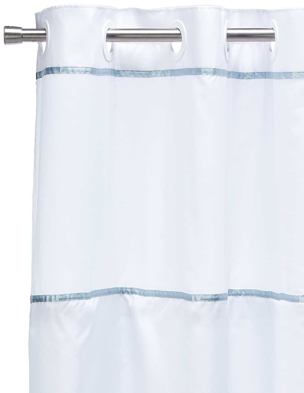 Style selections eva peva print multi fish shower curtain at lowes com - Amazon Com Vision Vinyl Shower Curtain Hookless White With Clear Top Home Kitchen