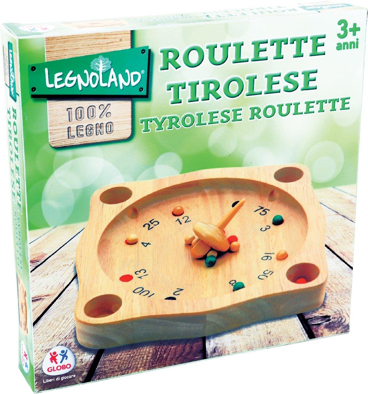 Globo Toys Legnoland Tiroler Roulette aus Holz, 21,5 cm x 21,5 cm –36862 5 cm –36862 Globo - 36862