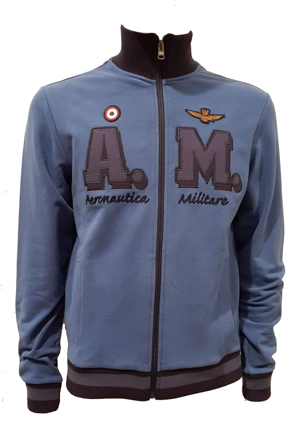 Aeronautica Militare Sudadera FE1402 Azul Hombre, Polo, pantalón ...