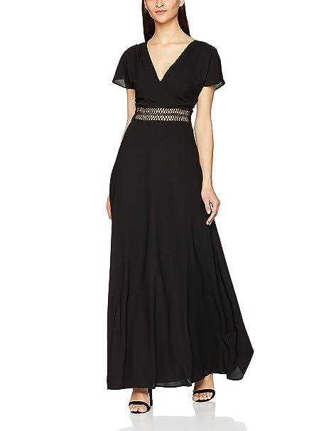 New Look Crochet, Vestido de Fiesta para Mujer, Negro (Black 01),