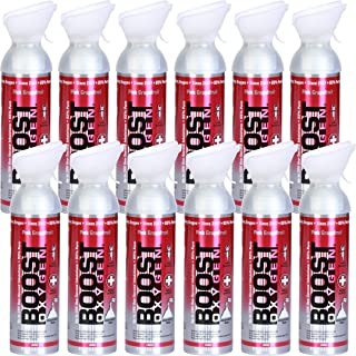 product image for Boost Oxygen Supplemental Oxygen to Go | All-Natural Respiratory Support for Health, Wellness, Performance, Recovery and Altitude (10 Liter Canister, 12 Pack, Pink Grapefruit)
