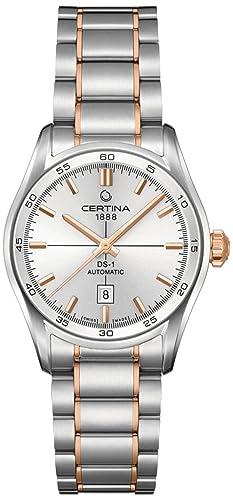 Certina - Reloj Analógico de Automático para Mujer, correa de Acero inoxidable color: Amazon.es: Relojes