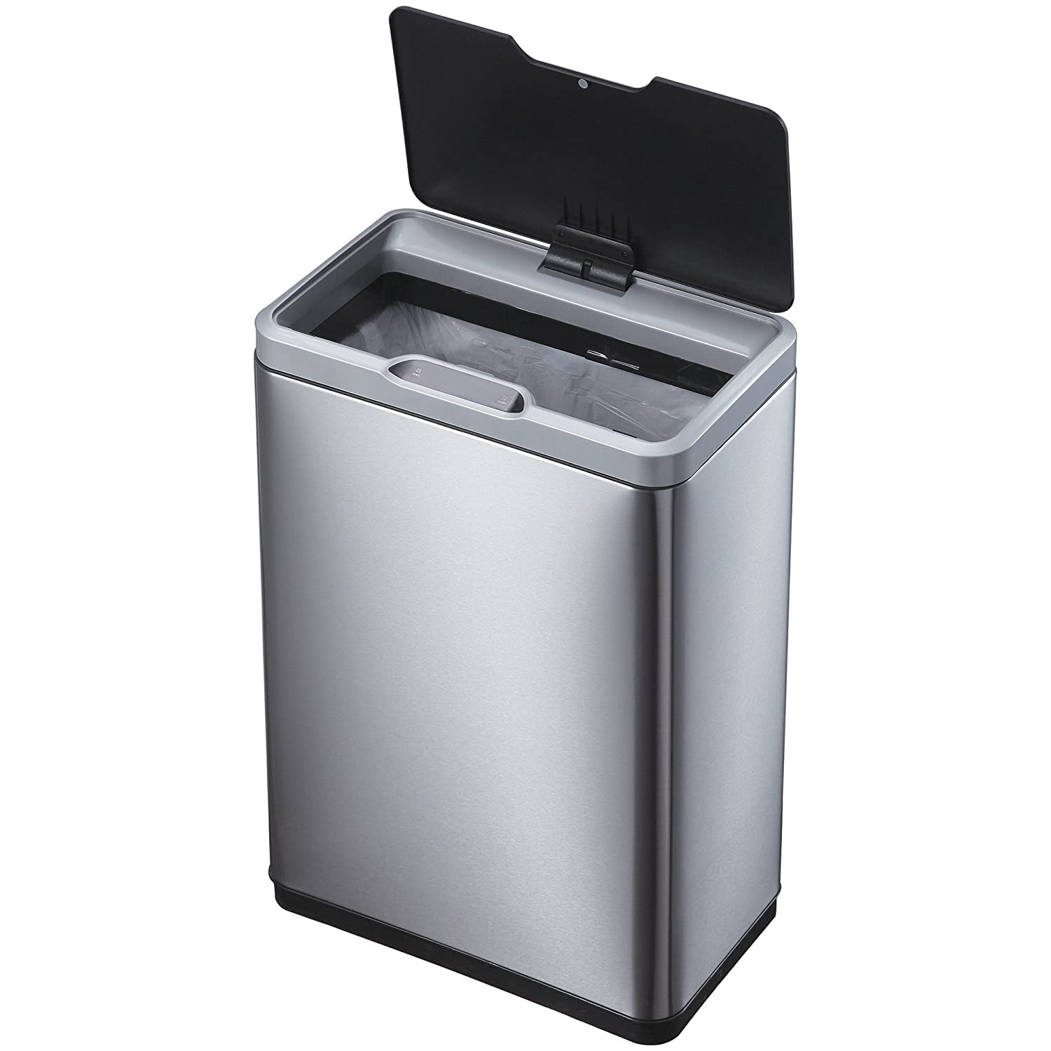Amazon.com: EKO 92785 1 Mirage Motion Sensor Touchless Stainless Steel Trash  Can | 50 Liter: Home U0026 Kitchen