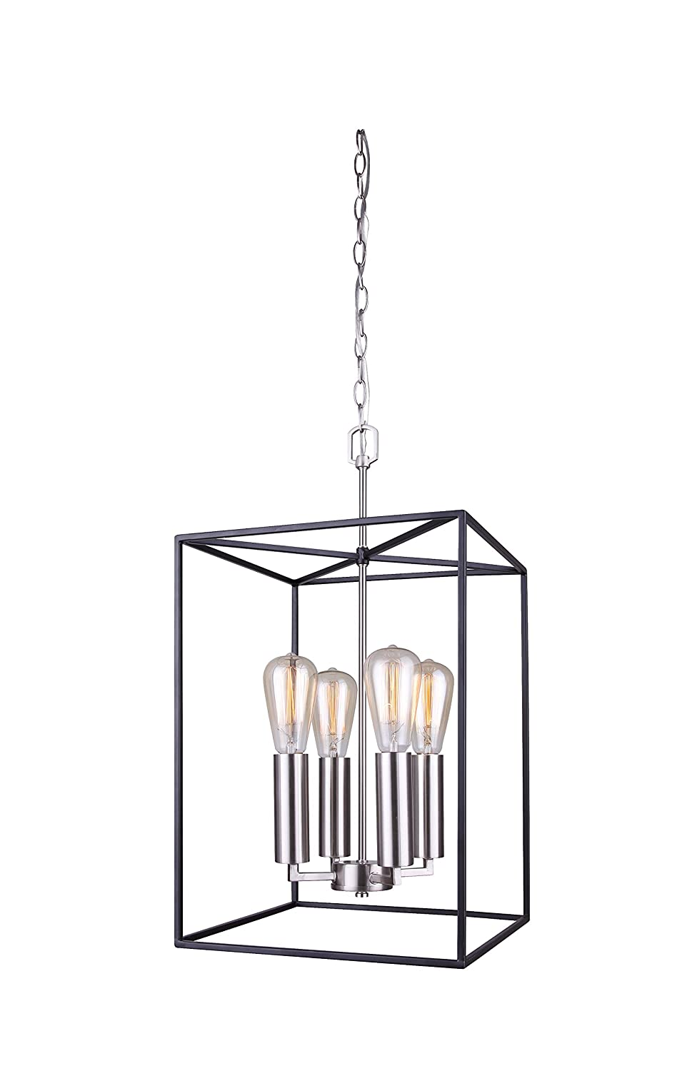 Canram IPL701A04BKN13 Roy Ceiling 4 Light Pendant with 6 Cord