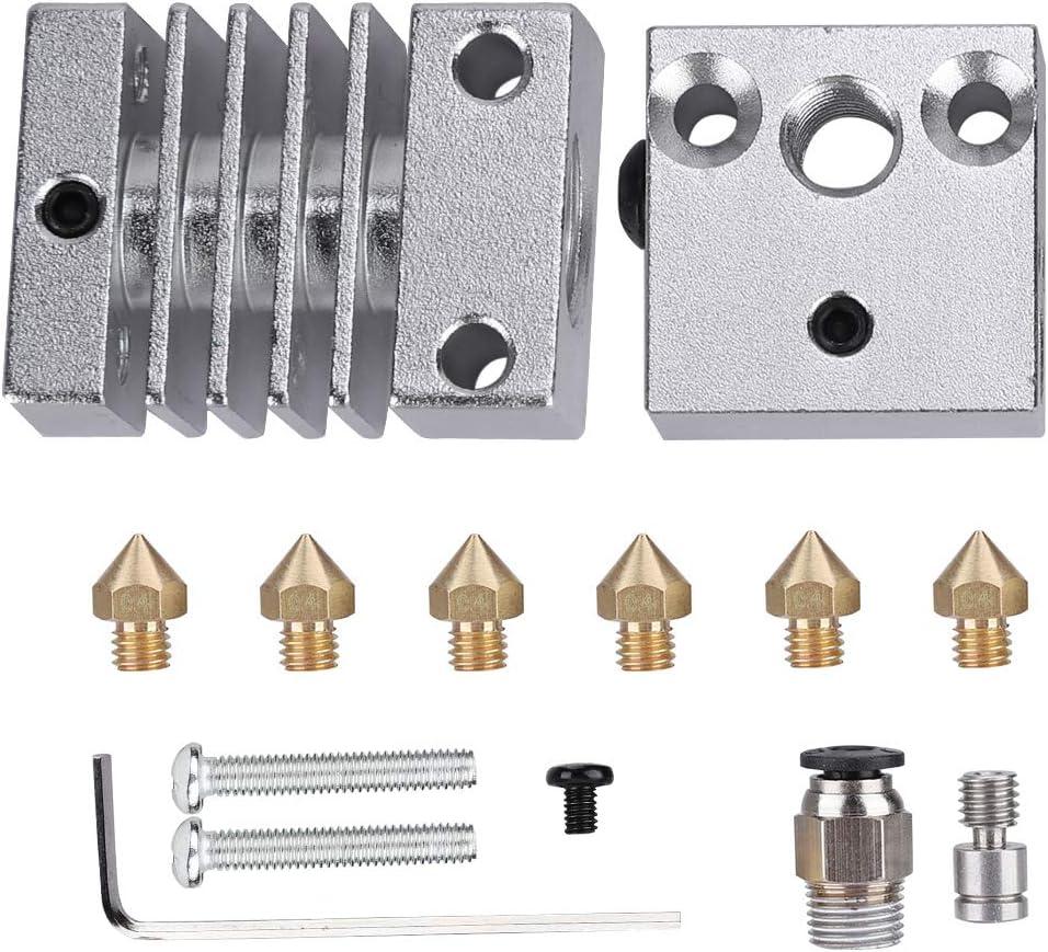 Tonysa 3D Drucker Edelstahl J-Kopf Hotend Extruder Kit Hotend Extruder Ersatz Teile f/ür Creality CR10 CR10S CR10S4 CR10S5 f/ür 1,75//3mm Verbrauchsmaterialien