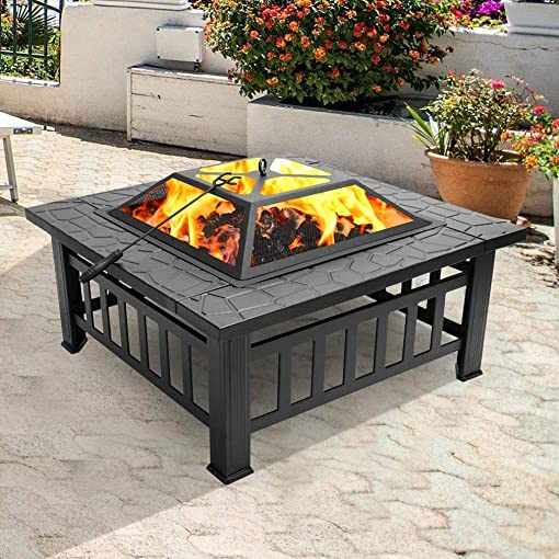 Outdoor Metal Square Fire Pit