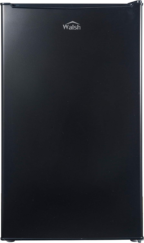 Walsh WSR35BK Compact Refrigerator,Single Door Fridge, Adjustable Mechanical Thermostat with Chiller, Reversible Doors, 3.5 Cu.Ft, Black