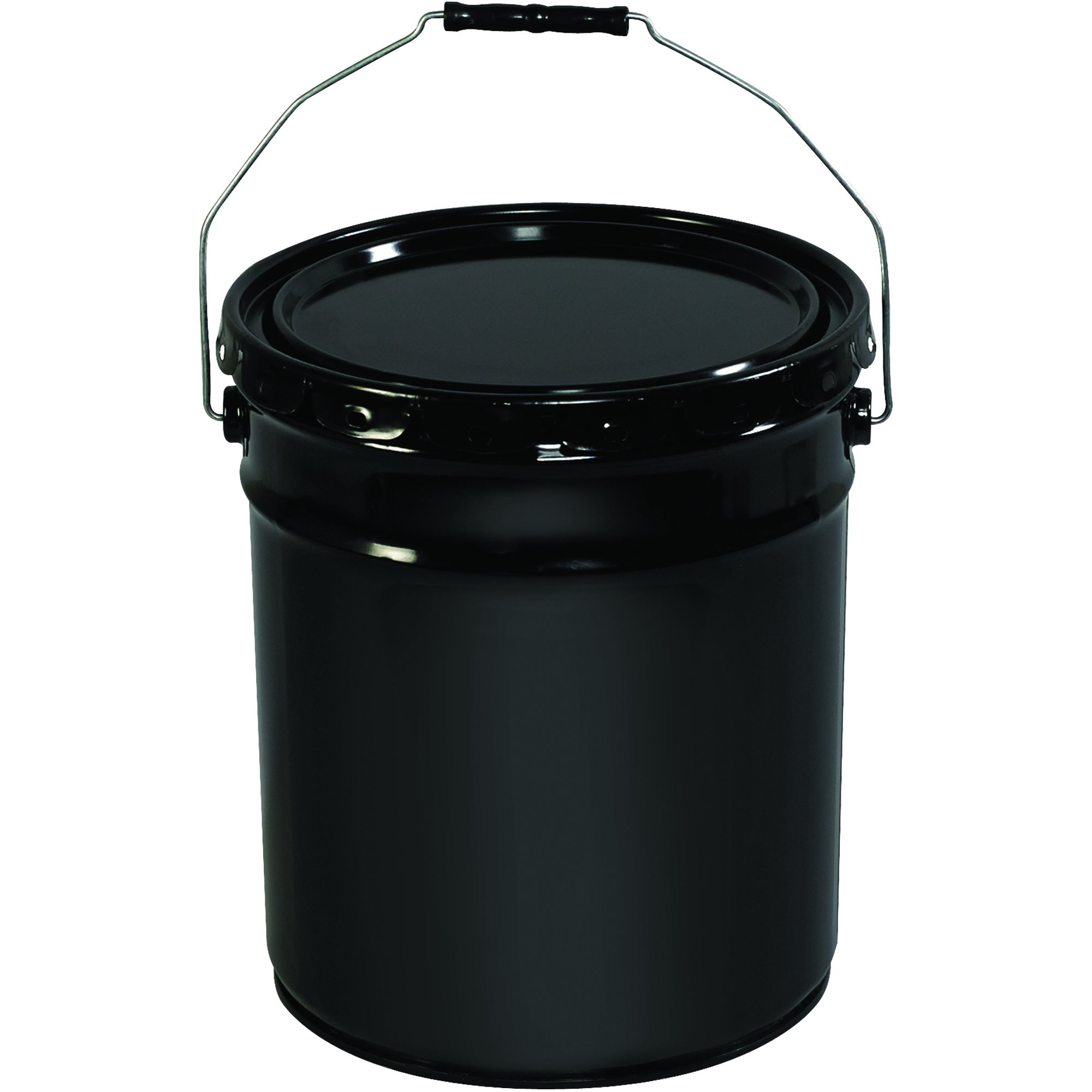 BOX USA BHAZ1078 Metal Pail, Open Head with Handle, 5 Gallon, Black (Pack of 1 Each)