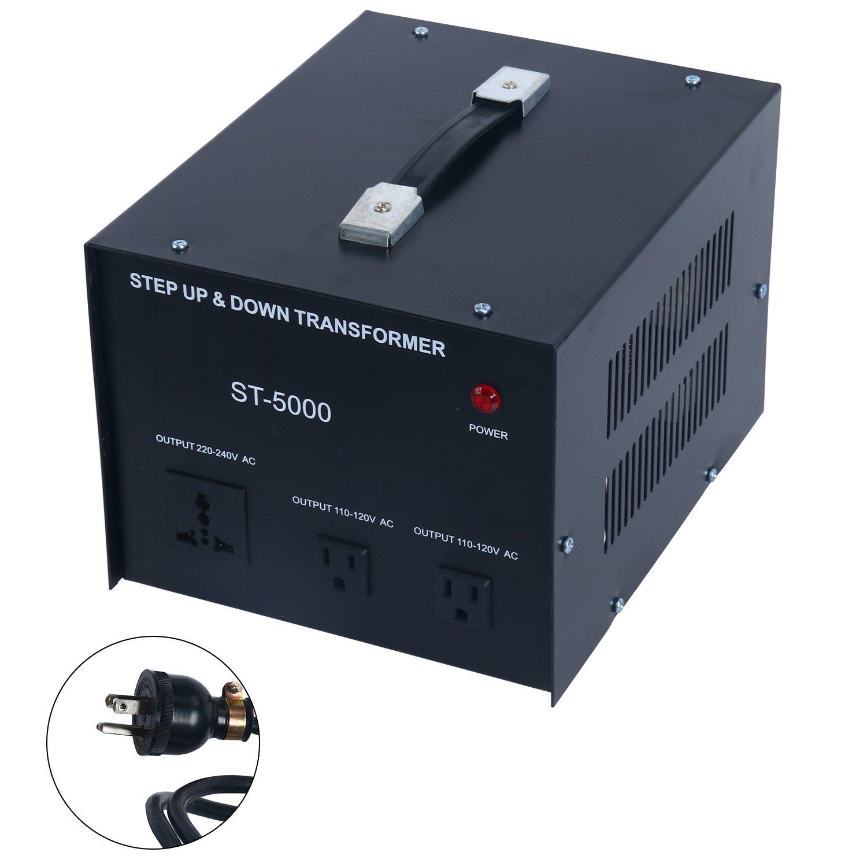 YaeCCC 5000 Watt Voltage Converter Transformer - 110V/220V - Circuit Breaker Protection by YaeCCC (Image #1)