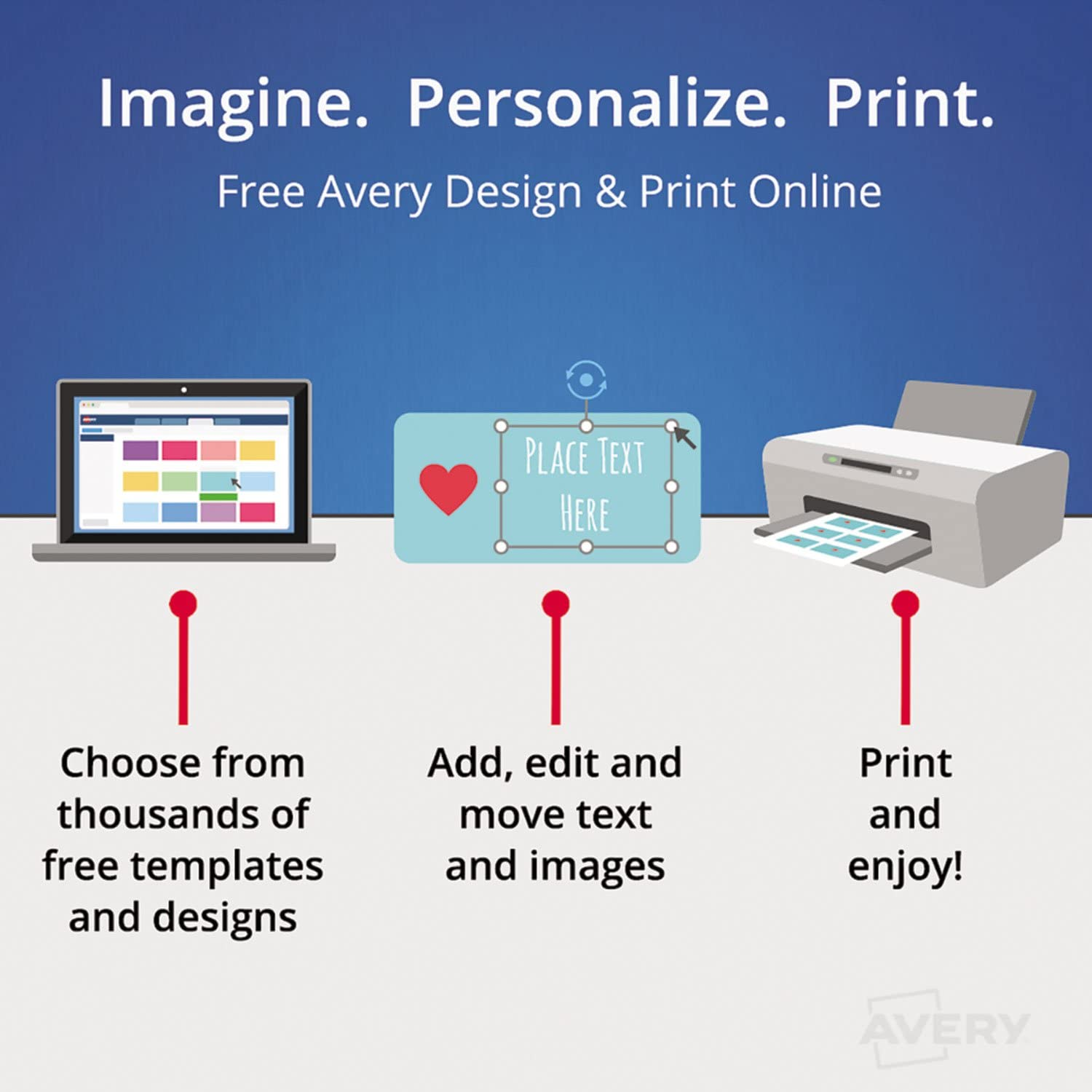 Avery 5960 Laser Labels 1-Inch x2-5//8-Inch White 7500//BX Mailing