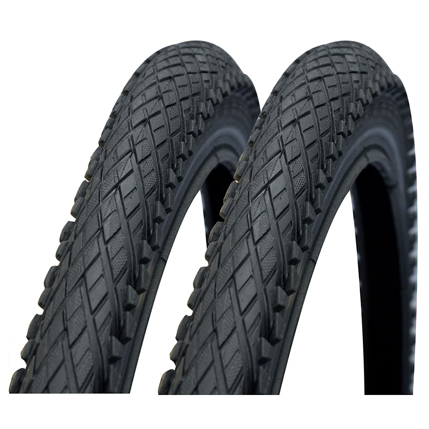"Cross Country Tyres 26 x 2.00/"" Black Bike Tires 2 x Impac CrossPac MTB"
