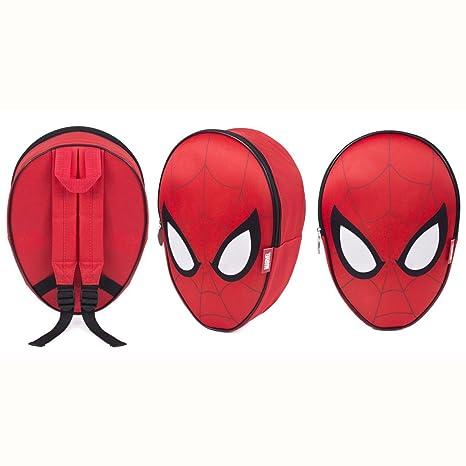 SAMBRO BAG-837-01 - Mochila con Forma de Cabeza de Spiderman en 3D