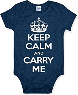product image for Hank Player U.S.A. Keep Calm & Carry Me Baby Onesie