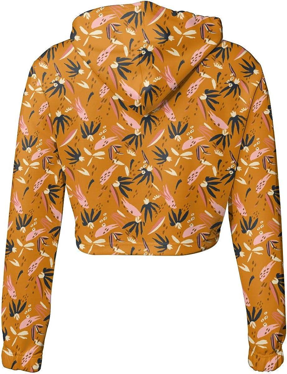Adobo/_Multi/_Desert Womens Sports Long Sleeve Crop Hoodie Sweatshirt Top Pullover Hooded Sweatshirt