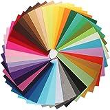 KINGSO 42PCS Assorted Color Felt Fabric Sheets Patchwork Sewing DIY Craft 2030cm