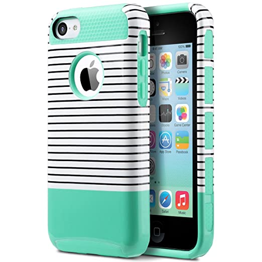 35 opinioni per ULAK- Cover iPhone 5C, iPhone 5C Custodia Cover ibrida rigida super protettiva