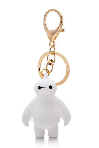 Amazon.com: meland Big Hero 6 blanco Baymax Llavero US ...