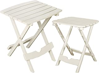 product image for Adams Manufacturing 8592-48-3730 Quik-Fold Side Table & Tag-Along Table Bundle, White