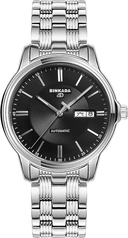 BINKADA 3ポインタ自動機械防水ブラックダイヤルメンズ腕時計# 707201 – 2 B014VP14SG
