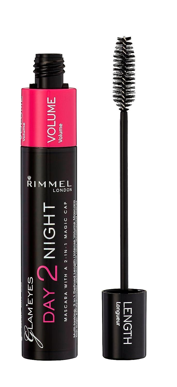 acbcaa47f44 Amazon.com : Rimmel Glam'eyes Day 2 Night Mascara, Black, 0.32 Fluid Ounce  : Beauty