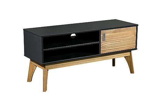 Suenoszzz- 4147 B - Mesa TV Mueble Auxiliar En Madera Color Gris y ...