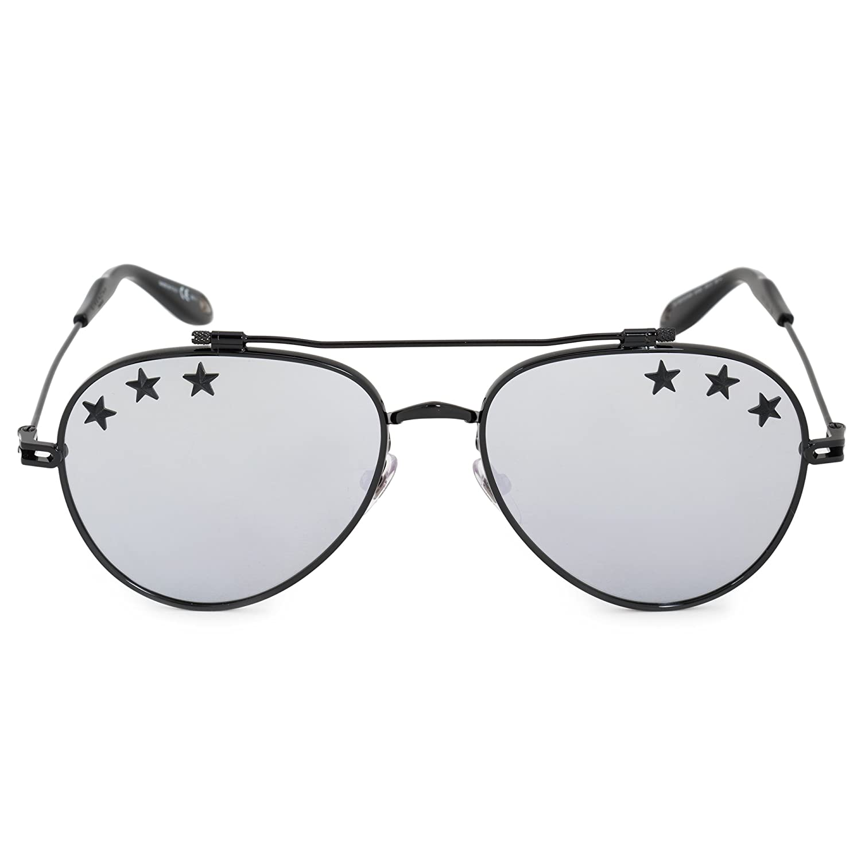 f7431be7912d Amazon.com: Givenchy GV7057/STARS 807 Black GV7057/STARS Pilot Sunglasses  Lens Category 3 L: Givenchy: Clothing