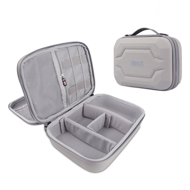 Electronics Organizer Bag Portable Travel Organizer Storage Carrying Bag for USB Cables,Power Bank,iPad Mini(Gray)