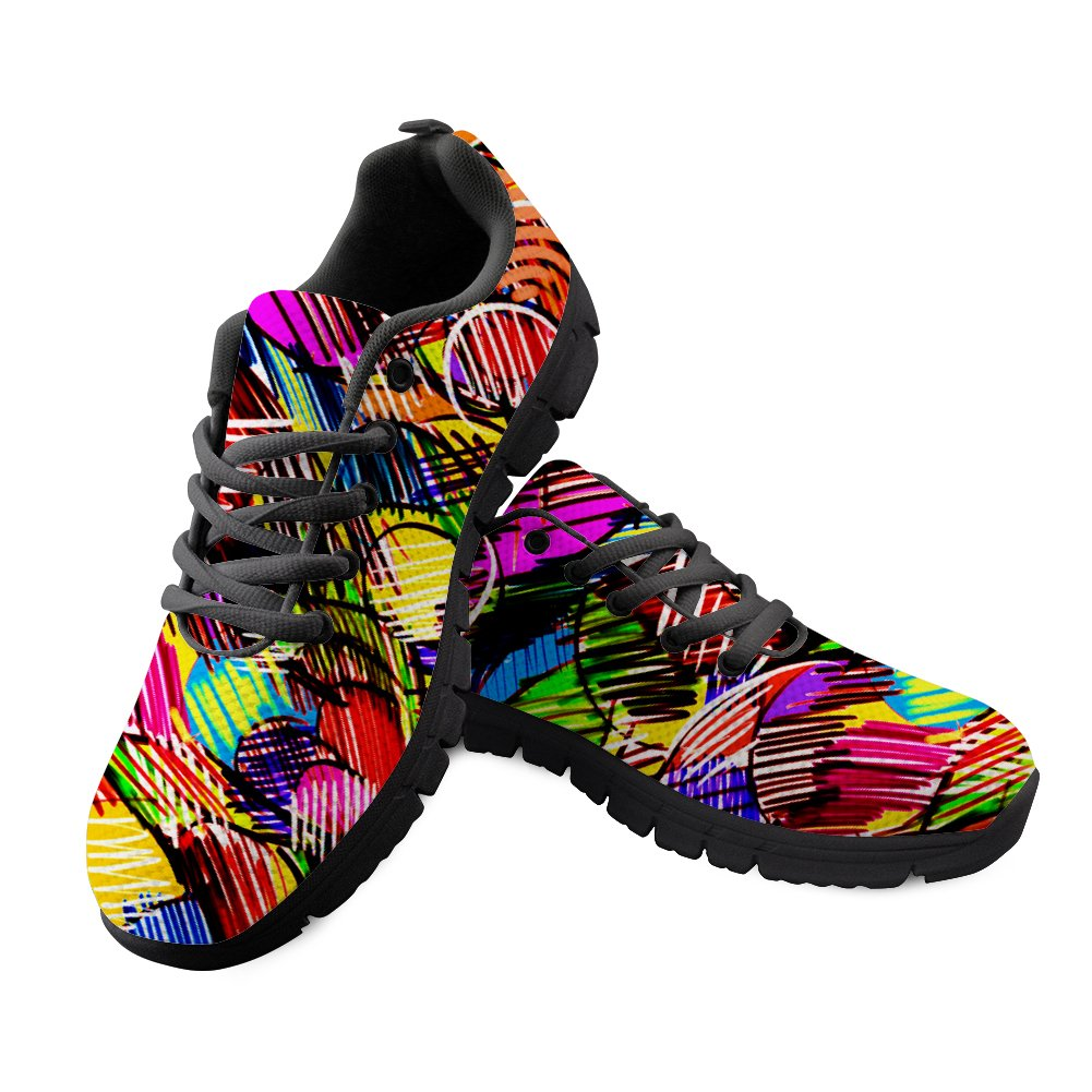 FancyPrint Breathable Mens Knit Breathable Shoes Walking Running Sneaker B07DLKHQRF EU44=Men US 11D|Nyeca5506baq