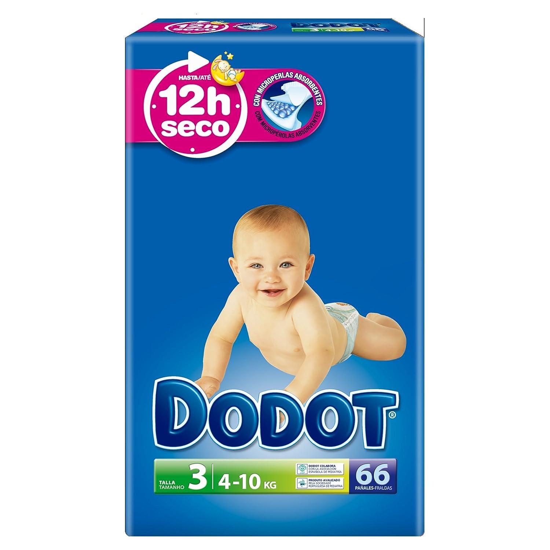 Dodot - Pañales talla 3 (4-10 kg), 3 Paquetes x 66: 198 unidades: Amazon.es: Belleza