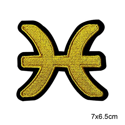 Amazon Riverbyland Pack Of 5 Pisces Symbols Iron On Patches